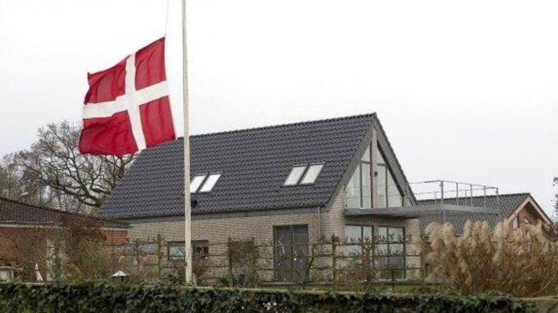En af de dræbte boede i det grå hus i Assens nær Hobro. Foto: Bo Amstrup