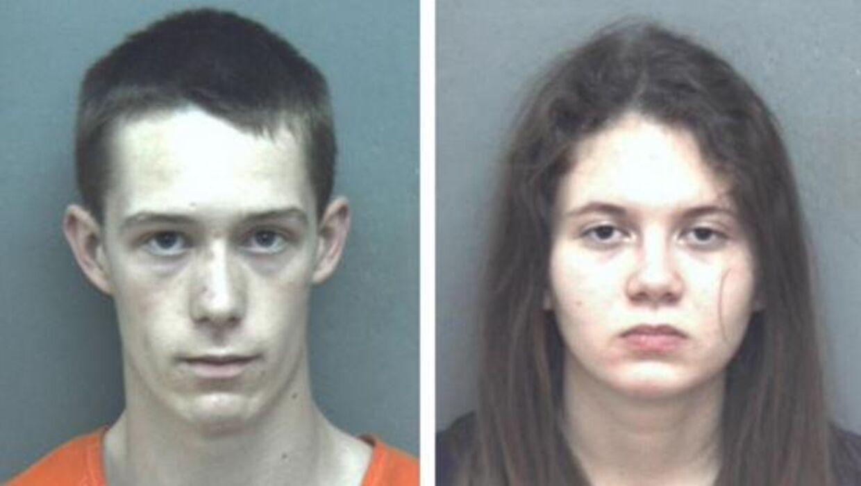 Den mordsigtede David Eisenhauer og Natalie Keepers, som er sigtet som medsammensvoren i drabet på Nicole Lovell. (Foto: Blacksburg Police Department)