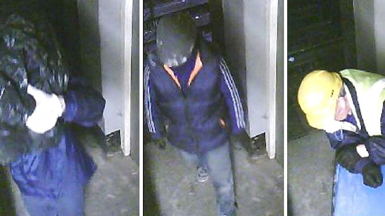 Politiet frigav efterfølgende overvågningsbilleder af tyveriet.