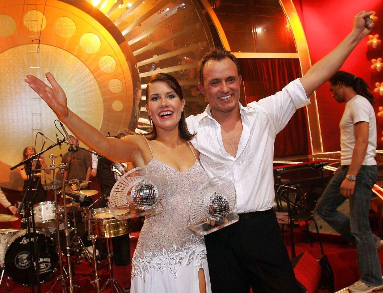 Første vindere af TV2 programmet 'Vild med dans' var Thomas Evers Poulsen og Mia Lyhne i 2005.