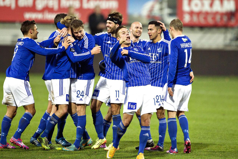Lyngby i kamp søndag 16. november mod Vendsyssel FF i 1. division.