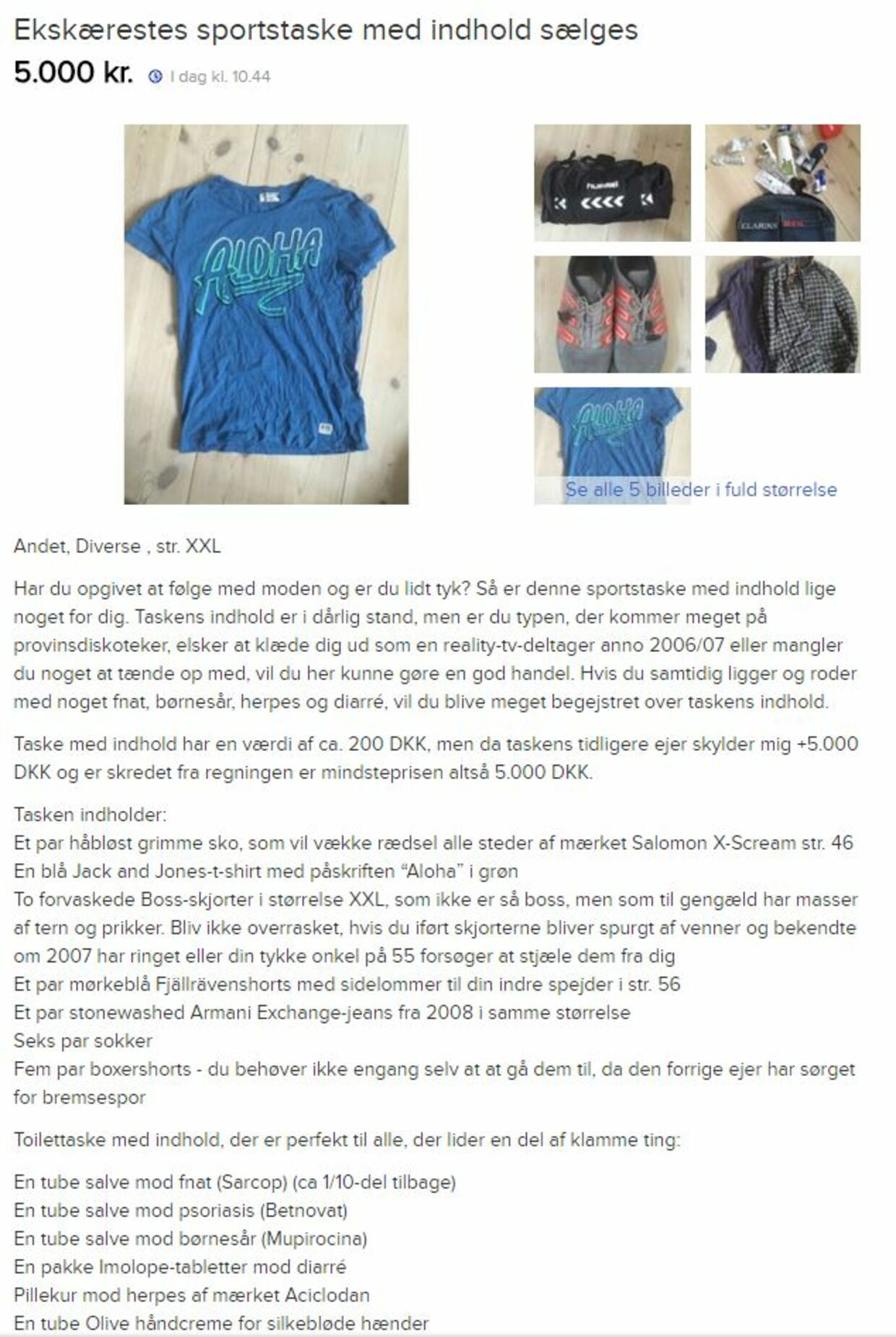 Annoncen fra DBA.dk, der blev lagt ud den 31. december.