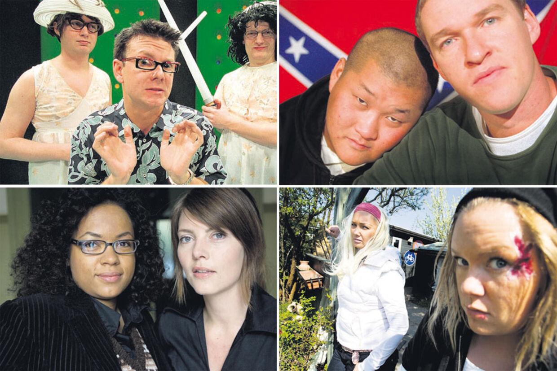 DR2 har gennem årene skabt grobund for en stribe danske satireprogrammer, bl.a. 'Piger på prøveløsladelse', 'Normalerweize', 'Banjos Likørstue' og 'Casper og Mandrilaftalen'.