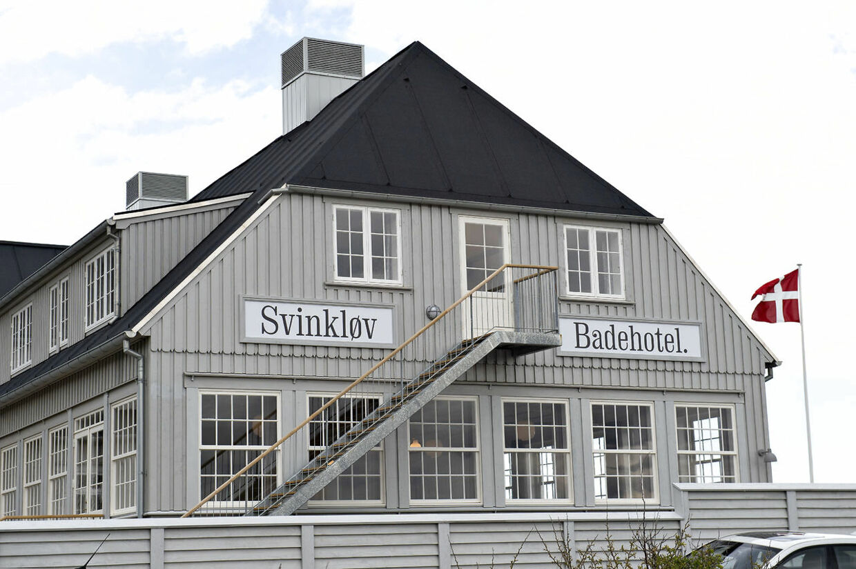 Gavlen på den nye udgave af det gamle badehotel. (Foto: Henning Bagger/Ritzau Scanpix)
