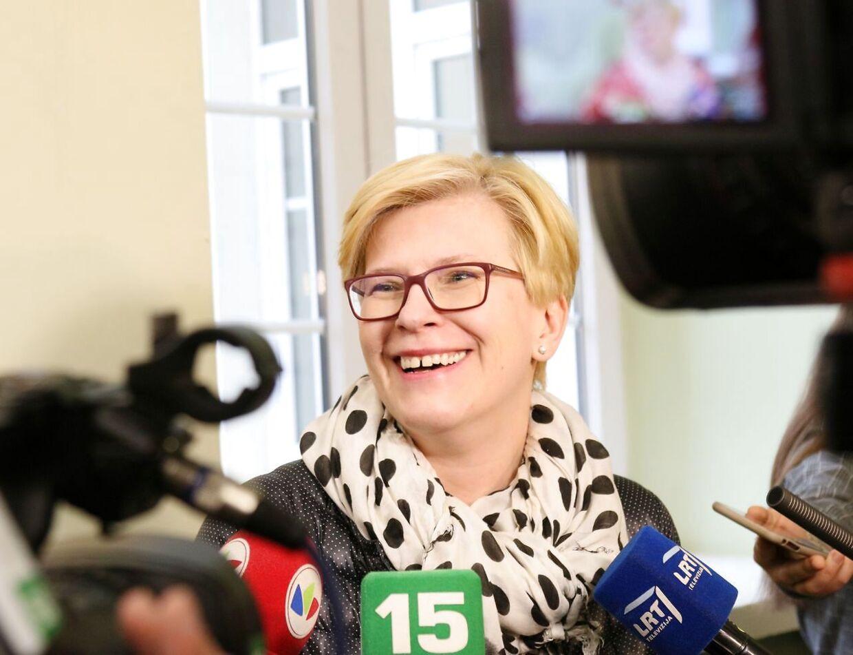 Ingrida Simonyte kan blive ny præsident i Litauen.