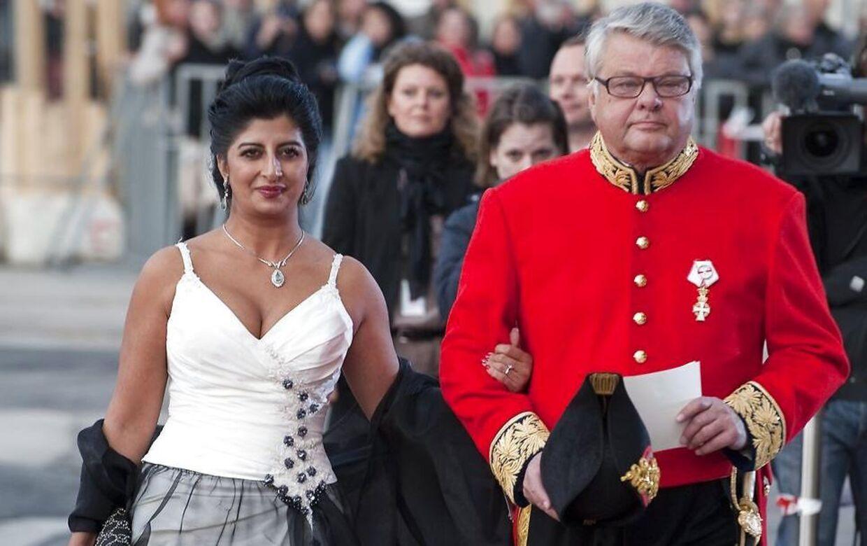 Christian Kjær og Susan Astani til Dronning Margrethes 70 års fødselsdag.