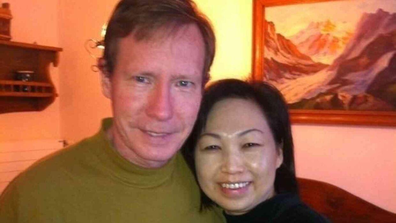 Peter Chadwick og hans kone, Quee Choo. Foto: Newport Police Department