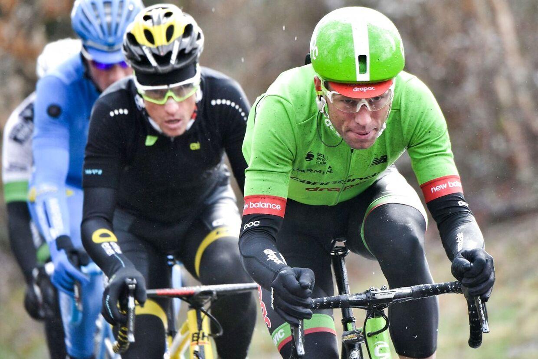 Slovakiske Kristijan Koren (th.) kørte tidligere for cykelholdet Cannondale-Drapac.