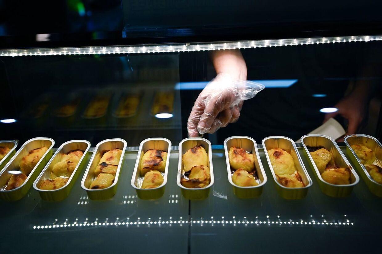 Har er det ristede durian, der er på markedet i Kina.