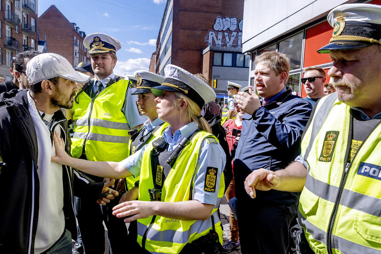 FV19. Rasmus Paludan fra Stram Kurs demonstrerede onsdag d. 15. maj på Nørrebro i København.