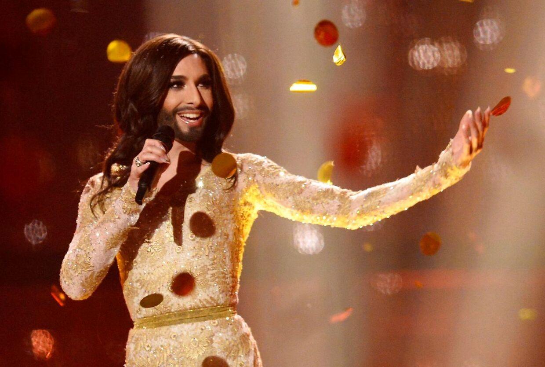 Conchita Wurst deltog for Østrig i 2014 med sangen 'Rise Like a Phoenix' og vandt Eurovision.