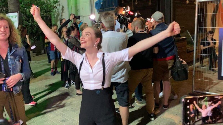 Leonora var jublende lykkelig efter torsdagens semifinale, hvor hun gik direkte videre til finalen.