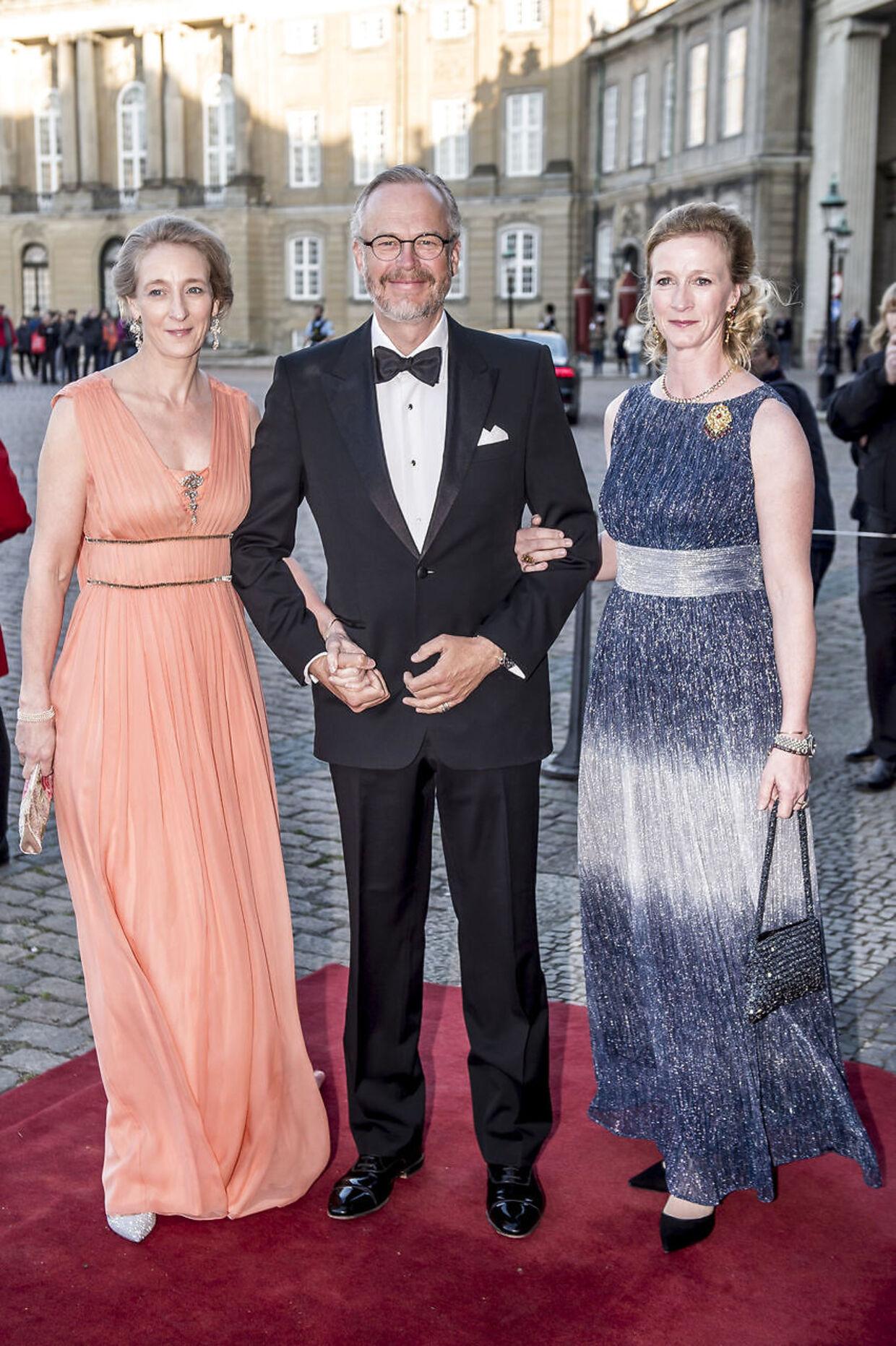 Prinsesse Alexandra af Sayn-Wittgenstein-Berleburg (tv.) og Michael Ahlefeldt-Laurvig-Bille har dannet par siden 2017.