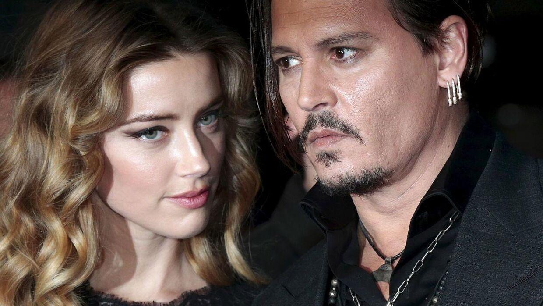 Johnny Depp og Amber Heard da de stadig var et par.