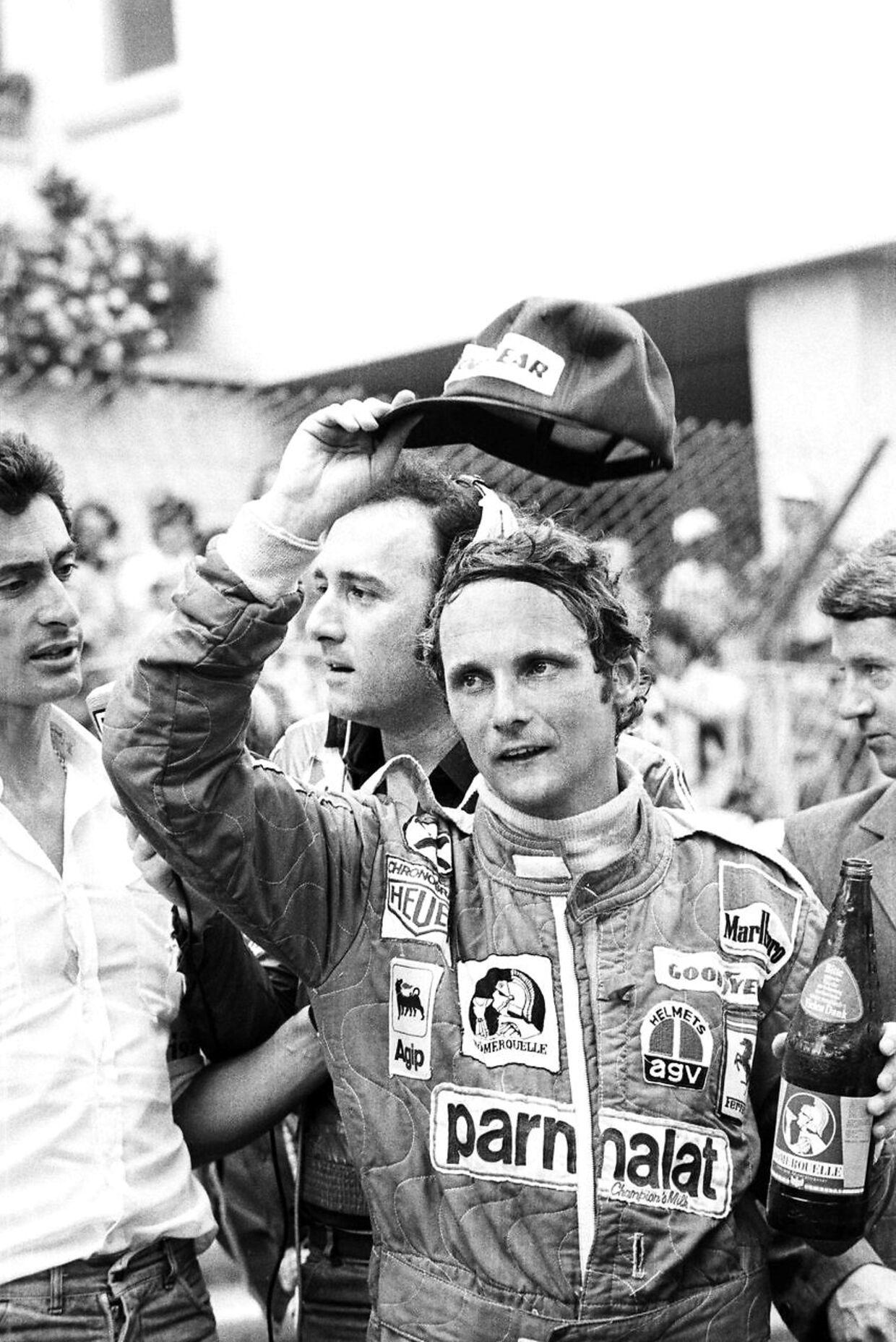 Her ses Niki Laudi 1976 få måneder inden den alvorlig ulykke.
