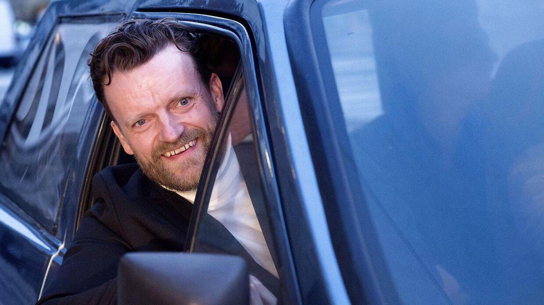 Arkivfoto: Gallapremiere på Dan Dream med Casper Christensen og Frank Hvam. Frank Hvam ankommer i elbil.