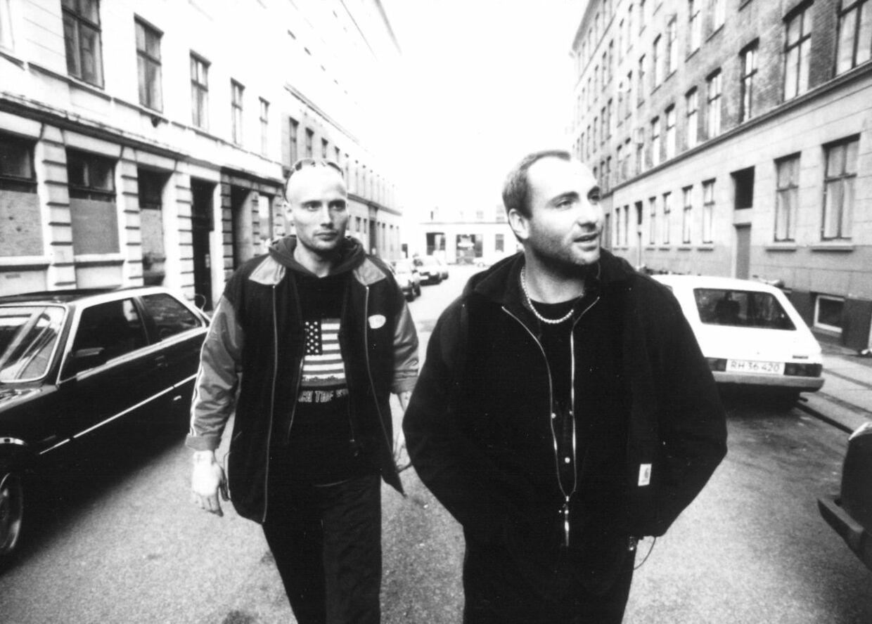 Mads Mikkelsen og Kim Bodnia i 'Pusher'.