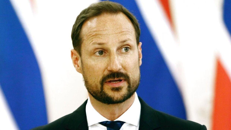 Arkivfot. De norske kronprins Haakon kommenterer på sin søsters brug af titel i sine forretninger. / AFP PHOTO / Petras Malukas