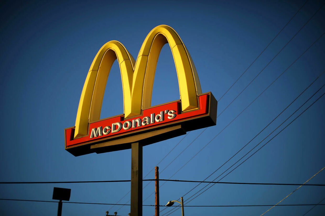 FILE PHOTO: The logo of a McDonald's Corp restaurant is seen in Los Angeles, California, U.S. October 24, 2017. REUTERS/Lucy Nicholson/File Photo