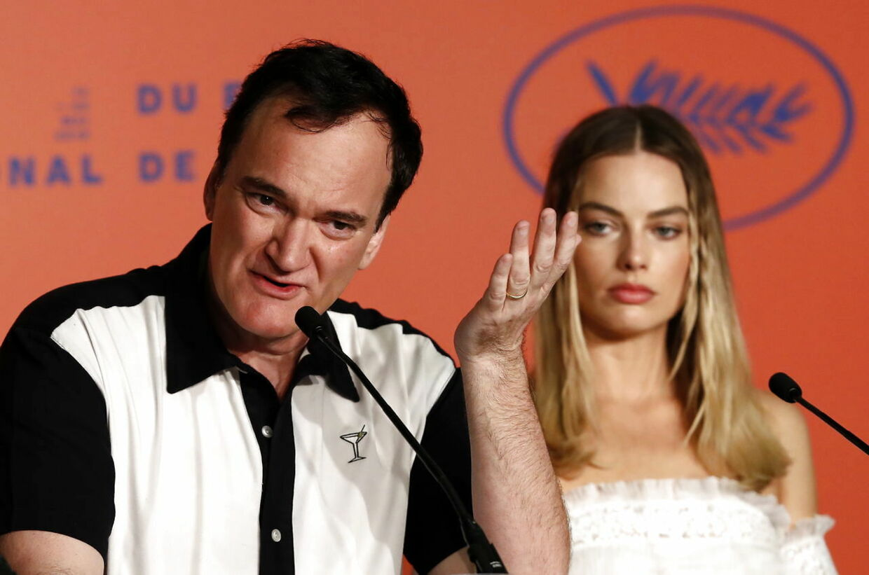 epa07591648 US director Quentin Tarantino and Australian actress Margot Robbie attend the press conference for 'Once Upon a Time... in Hollywood' during the 72nd annual Cannes Film Festival, in Cannes, France, 22 May 2019. The movie is presented in the Official Competition of the festival which runs from 14 to 25 May. EPA/JOHN PHILLIPS / POOL