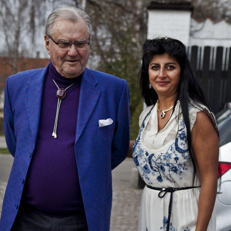 Her ses Prins Henrik og Christian Kjærs kone Susan Astani-Kjær ved Christian Kjærs 70 års fødselsdag.