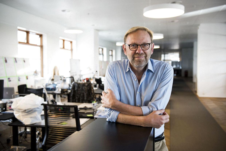 Portræt af Michael Dyrby, som er tidligere nyhedschef for TV 2 Nyhederne.