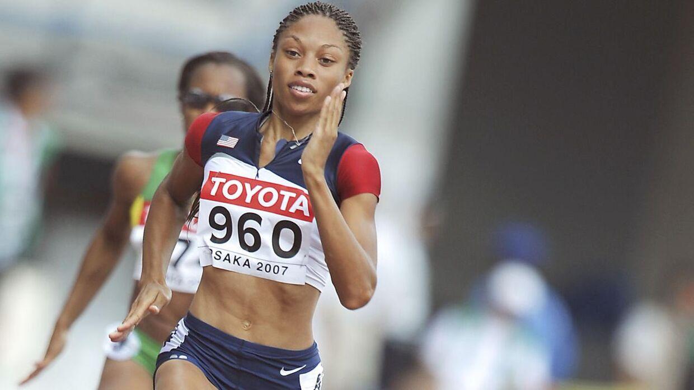 Allyson Felix er en amerikansk løber, som har vundet seks olympiske guldmedaljer.