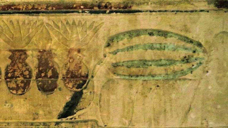 Vandmeloner er afbilledet i mindst tre gamle egyptiske gravkamre.