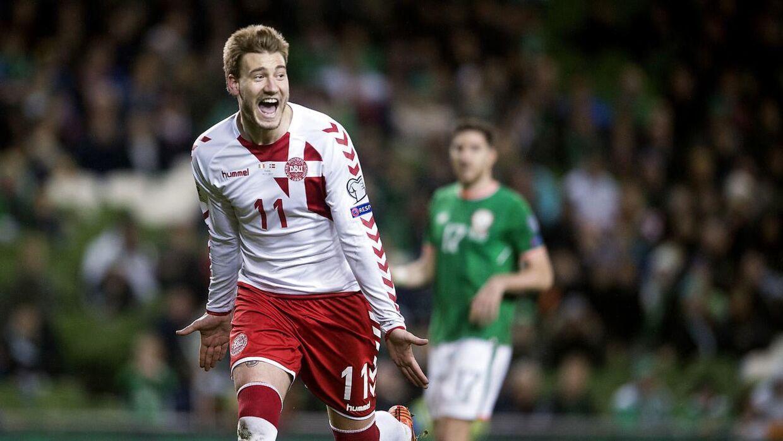 I november fik Nicklas Bendtner så slået fast, at han var tilbage på det danske landshold, da han i VM-kvalifikationskampen mod Irland scorede til 5-1 på straffespark.