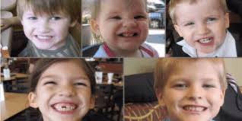 De fem børn blev henholdsvis kun otte, syv, seks, to og et år.