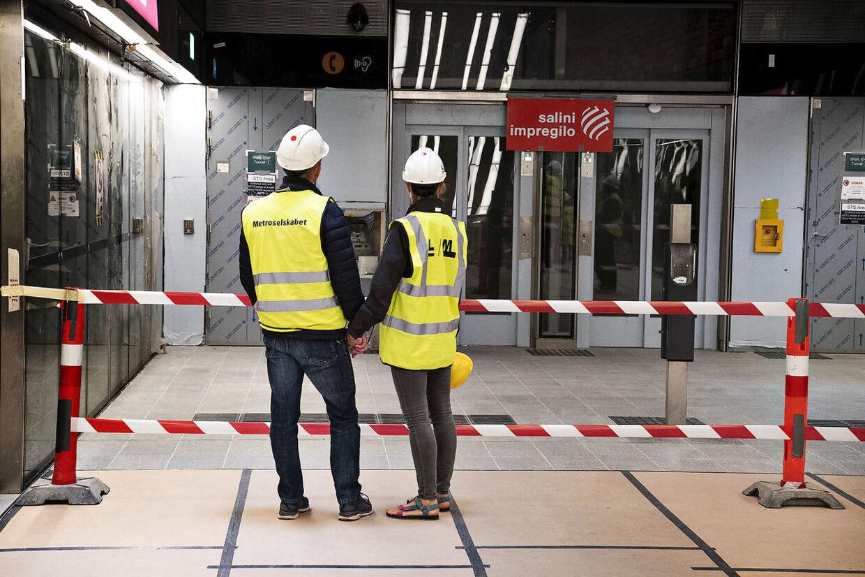 Den nye station på Enghave Plads.