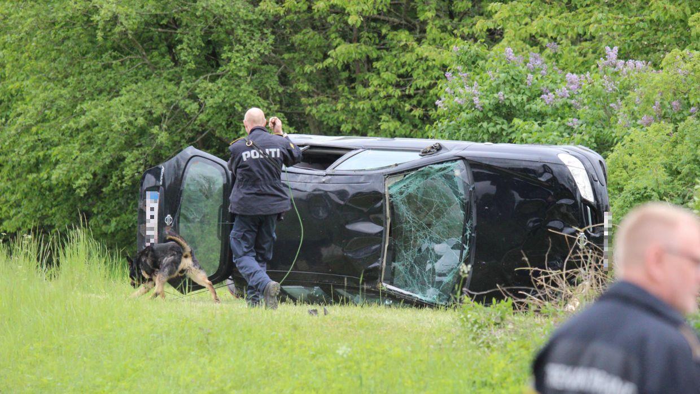 Soloulykke ved Lillebæltsbroen.