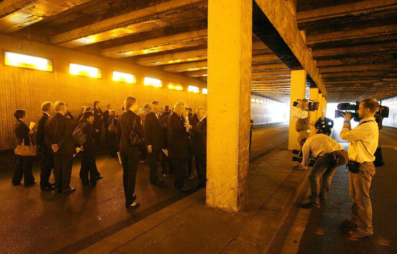 Pont de l'Alma.tunnelen in Paris, hvor prinsesse Diana omkom.