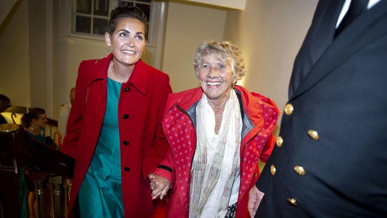 Valgfesten hos SF med Pia Olsen Dyhr og Margrete Auken på Christiansborg i København under Europa-Parlamentsvalget 2019, søndag den 26. maj 2019. (Foto: Liselotte Sabroe/Ritzau Scanpix)