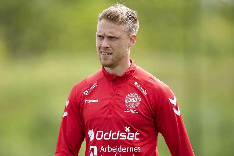 Nicolai Jørgensen Fodboldlandsholdet træner på Brøndby Stadion før EM kvalifikationskampene mod Irland og Georgien, tirsdag den 28. maj 2019.