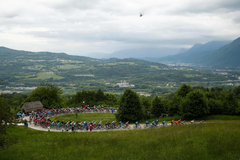 18. etape af Giro d'Italia bød på 222 kilometer fra fra Valdaora til Santa Maria Di Sala i den nordøstlige del af landet. Luk Benies/Ritzau Scanpix