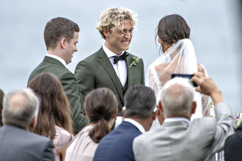 Christopher og Celie Haugaard bryllup. Lørdag den 1. juni 2019.