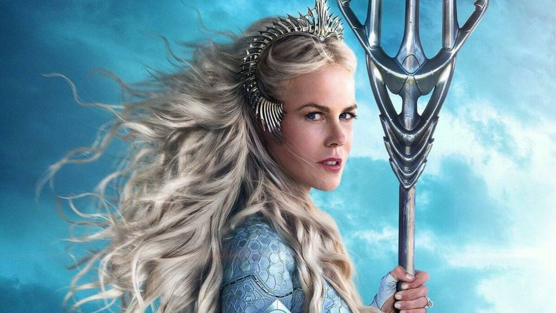 Nicole Kidman i 'Aquaman'. Her kom den 51-årige filmstjerne til at se betydeligt yngre ud. Computerprogrammet leverede både glat hud og ansigtsløft.