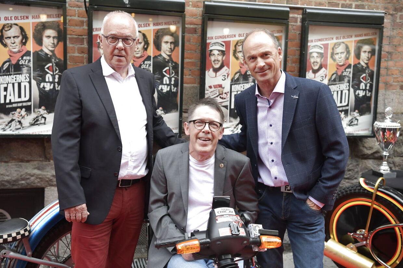 Hovedpersonerne og 'kongerne' af dansk speedway gennem 70'erne og 80'erne - fra venstre: Ole Olsen, Erik Gundersen og Hans Nielsen.