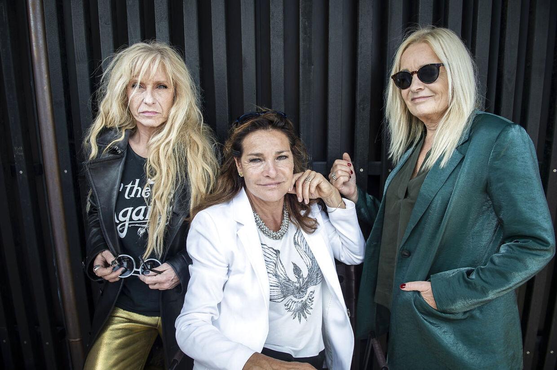 Sanne Salomonsen, Lis Sørensen og Anne Linnet stiller op til fotografering ved Grøn Koncert-pressemødet i København tirsdag den 4. juni 2019. (Foto: Liselotte Sabroe/Ritzau Scanpix)