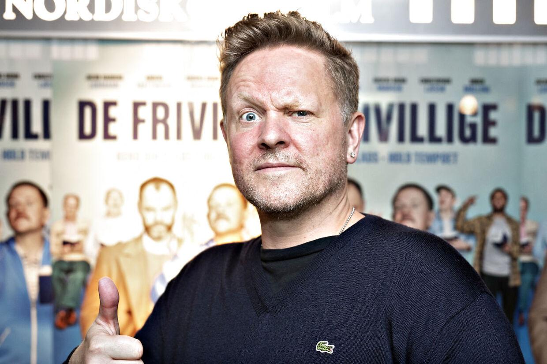 Anders Matthesen til gallapremiere på 'De frivillige'.