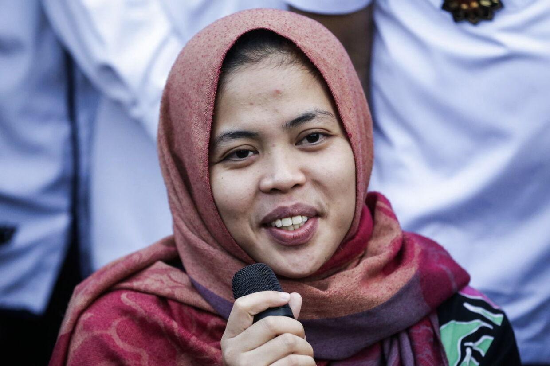 Siti Aisyah, den anden af de to kvinder, som slog Kim Jong Nam ihjel. Hun blev løsladt i marts.
