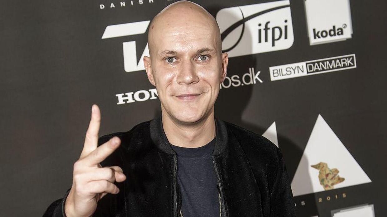 Kato ankommer, da rockens og poppens Danish Music Awards lørdag aften blev uddelt ved en storstilet fest i Forum i København.