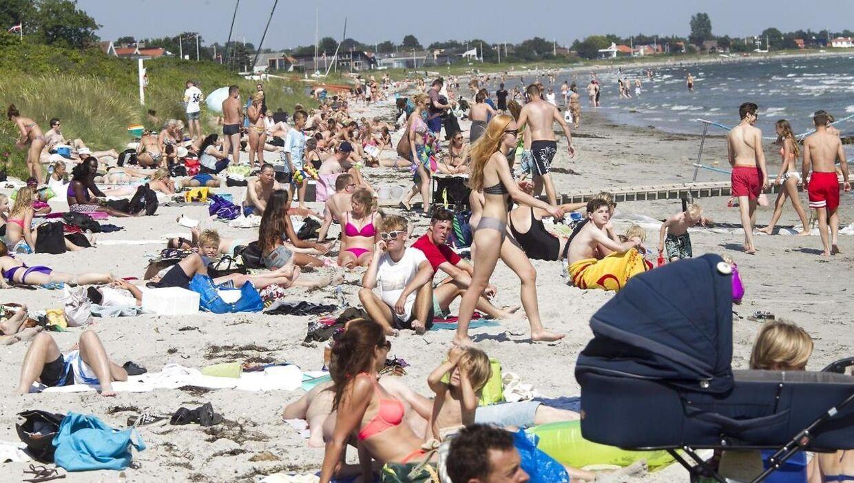 Sommer på Bellevue strand i Risskov ved Aarhus i 2014.