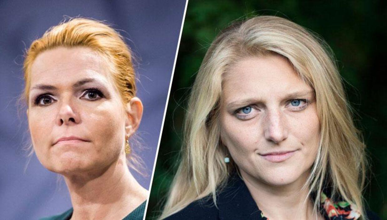 De Radikales Zenia Stampe (th) Venstres Inger Støjberg (tv).