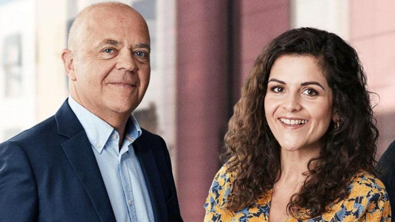 TV2's nye værtspar Jes Dorph og Petra Nagel.