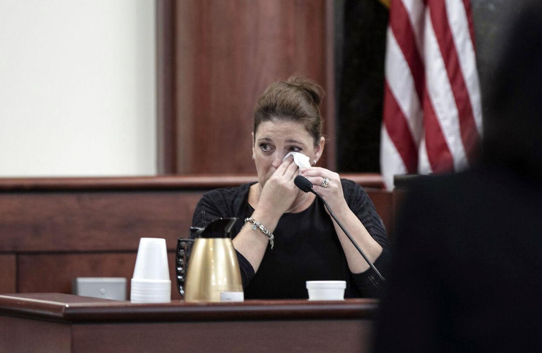 Amber Kyzer under retssagen.