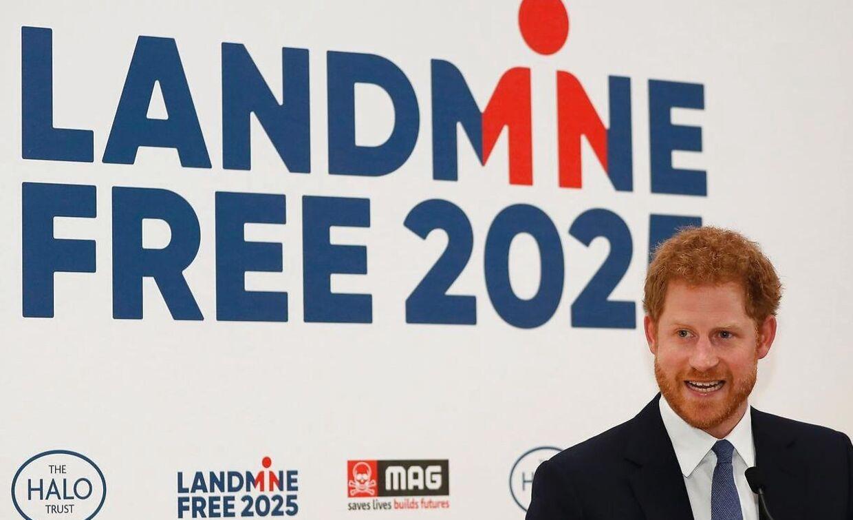 Prins Harry fotograferet i april 2017 i forbindelse med et velgørenhedsarrangemnet til fordel for landminesagen.