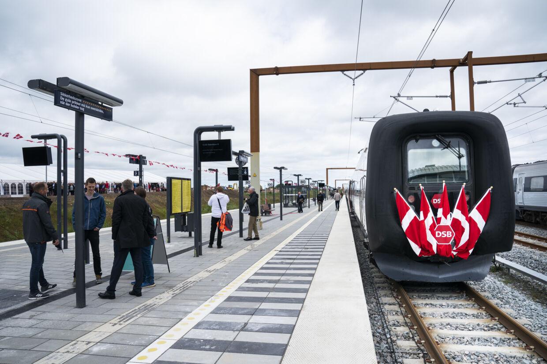 Højhastighedsbanen fra Ringsted til København blev indviet den 31. maj 2019. I fremtiden bliver Køge Nord Station et trafikalt knudepunkt i togtrafikken mellem København og Aalborg. Martin Sylvest/Arkivfoto/Ritzau Scanpix
