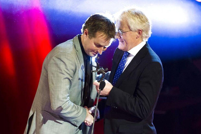 Kasper Hjulmand bliver kåret som årets træner i Danmark i 2012.